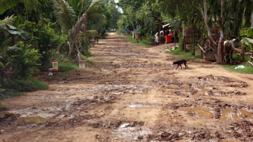 Road of countryside, Cambodia