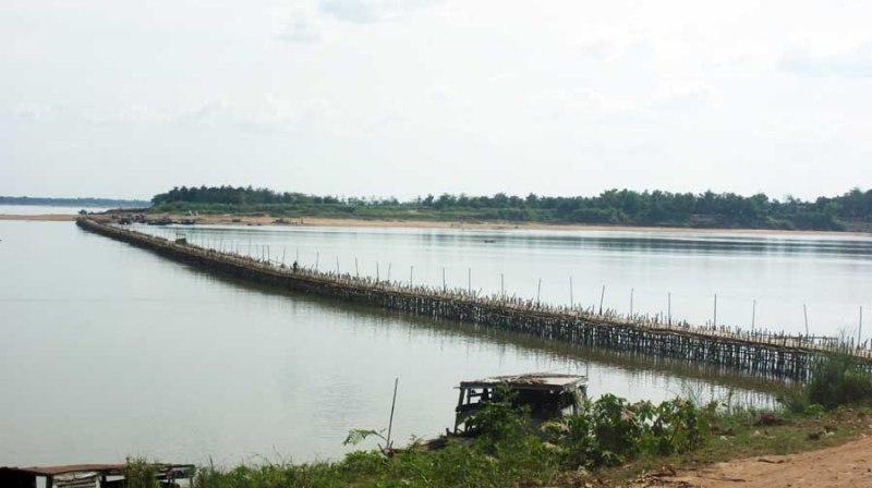 ស្ពានឫស្សី, កោះប៉ែន, ខេត្តកំពង់ចាម, Bamboo Bridge, Koh Pen, Kampong Cham, Cambodia